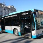 Un autobus dotato di pedana