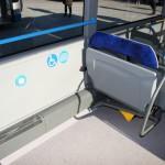Lo spazio interno per la sedia a rotelle